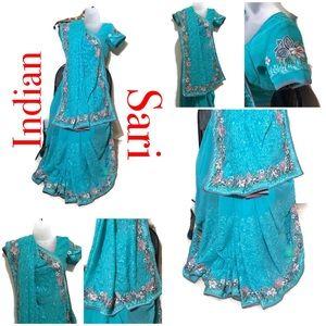 Wedding party reception embroidery sari blouse